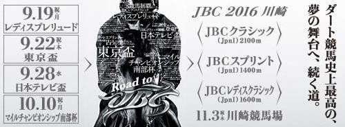 11月3日(木・祝)に行われるJBC2016シリーズ
