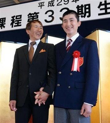 父木幡初広騎手と騎手学校卒業式にて