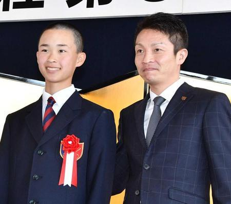 角田大和君と父の角田晃一調教師