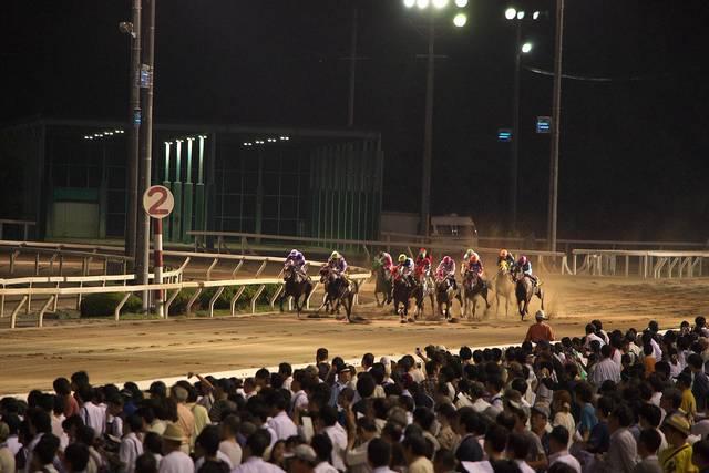 ナイターも開催される兵庫県の園田競馬場