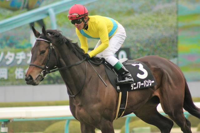 須磨特別で返し馬に入るタニノアーバンシーの様子