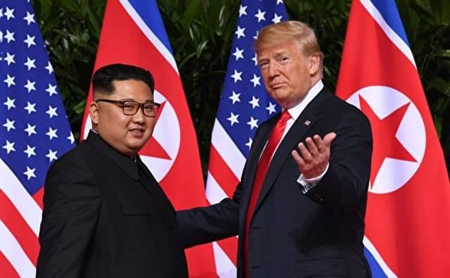 会談に応じるトランプ大統領と金正恩氏