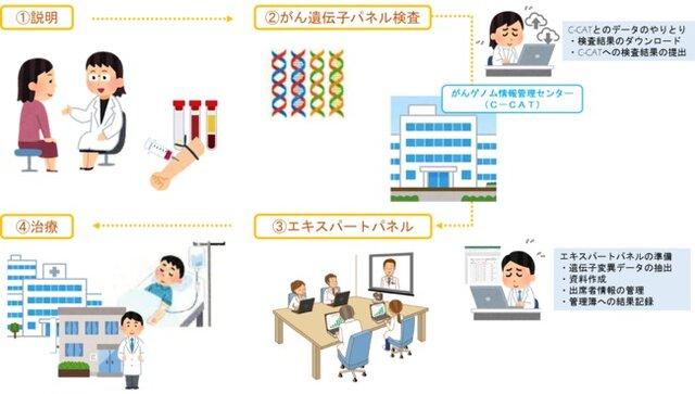 図1:これまでのがんゲノム医療の作業例