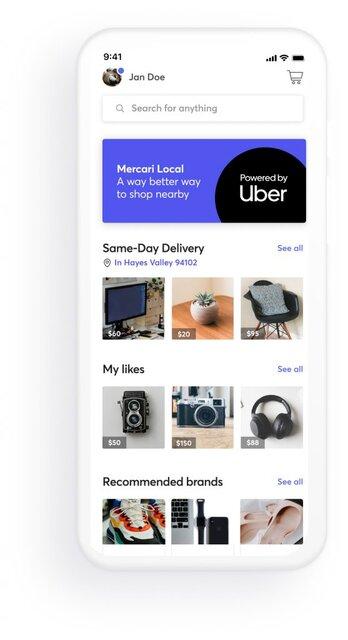 図1:Mercari Localの画面イメージ