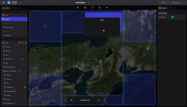 図2:「Re:Earth」の特徴:柔軟なウィジェット配...