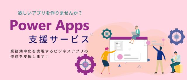 図1:ソフトクリエイトの「Power Apps 支援サ...
