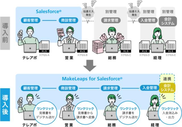 図1:MakeLeaps for Salesforce...