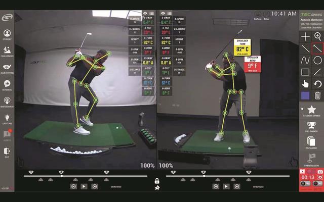 図2:3Dモデル化したスイング映像をもとにスイングを解析
