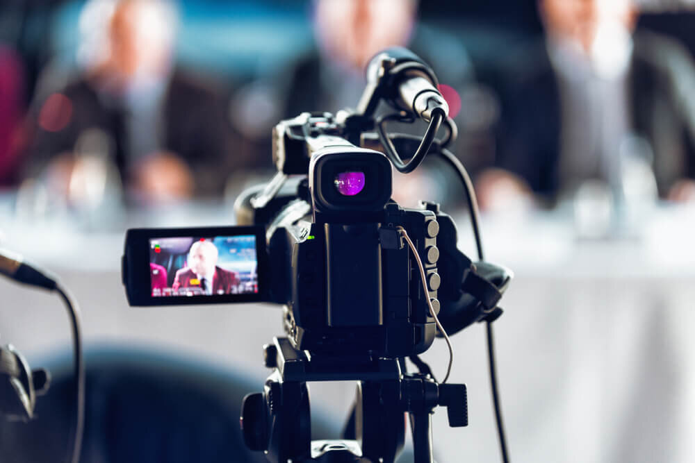 ライブ配信をするカメラ