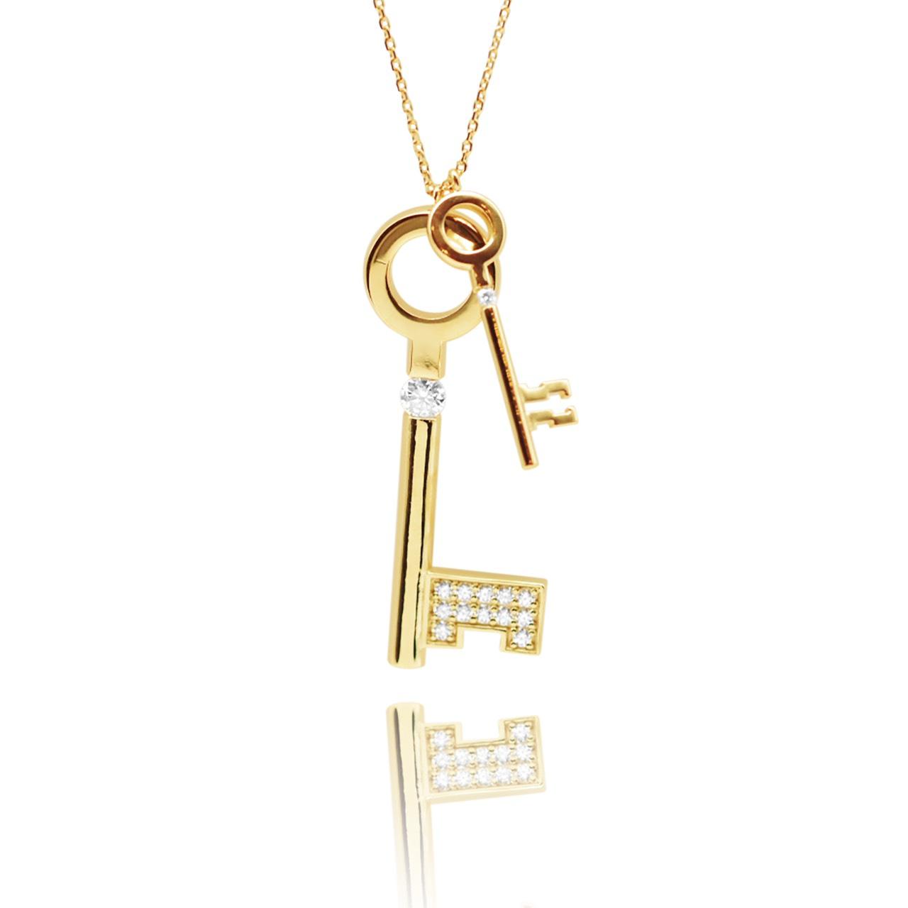 <Key Necklace> K24 ゴールドヴェルメイユ 53,900円