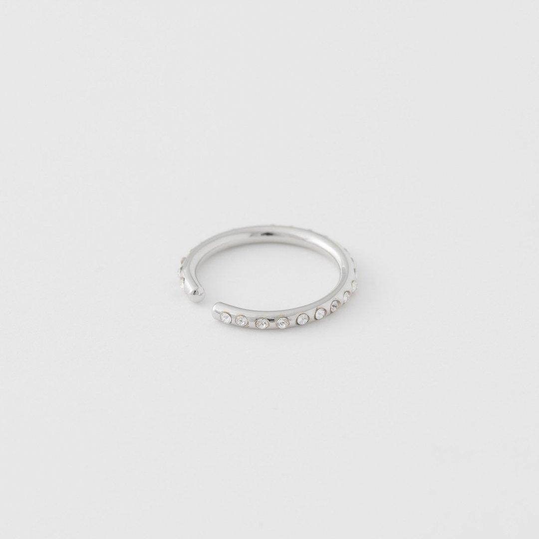 silver stones earcuff